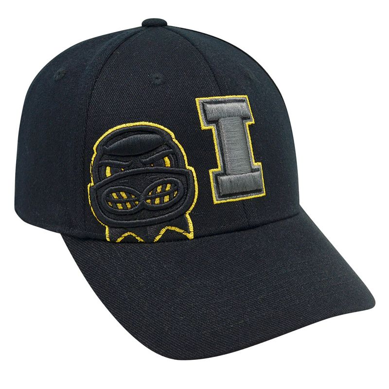 Adult Top of the World Iowa Hawkeyes Burnout One-Fit Cap