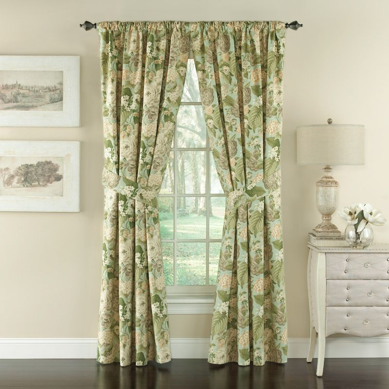 Waverly 2-pack Garden Glory Window Curtains - 50'' x 84'', Green thumbnail