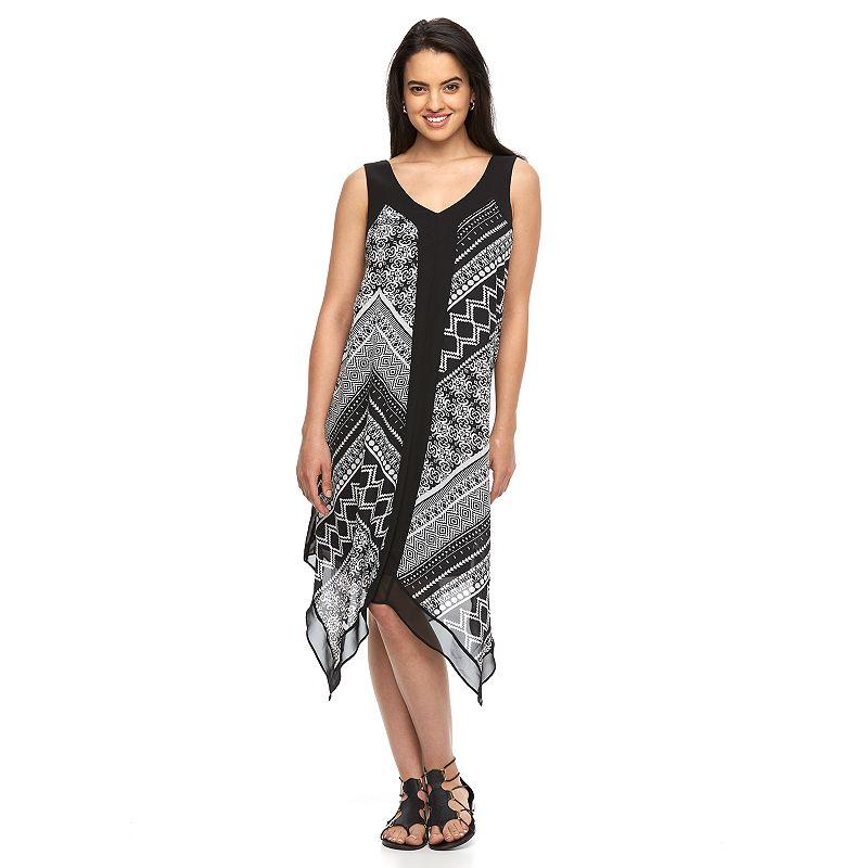 Women's AB Studio Mixed-Print Tank Dress