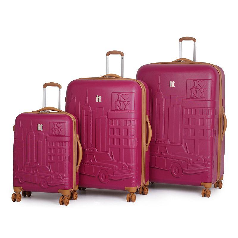 it luggage Duraliton NYC Embossed 3-Piece Hardside Spinner Luggage Set