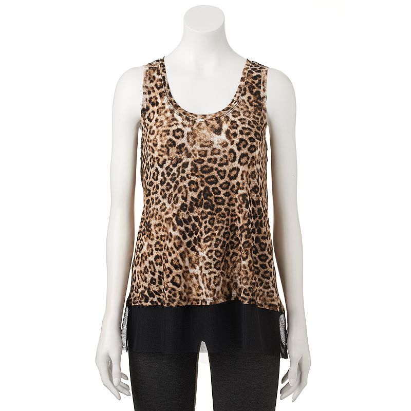 Women's Jennifer Lopez Print Mixed-Media Tank