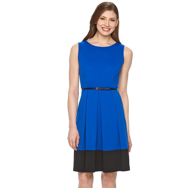 Women's Dana Buchman Colorblock Fit & Flare Dress