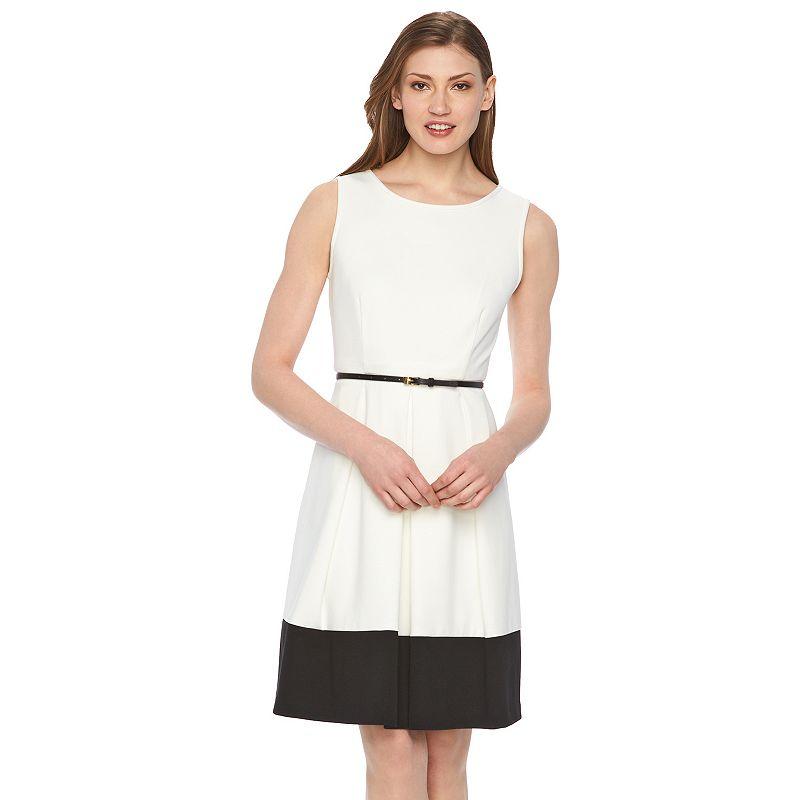 Women's Dana Buchman Colorblock Fit & Flare Dress