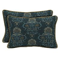 Bombay® Outdoors Anatolia Scroll Reversible Oblong Throw Pillow 2-piece Set