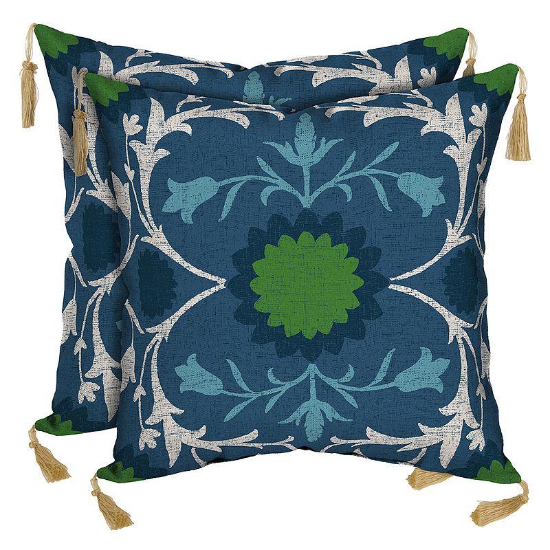 Bombay® Outdoors Turkish Garden Tassels Reversible Throw Pillow 2-piece Set