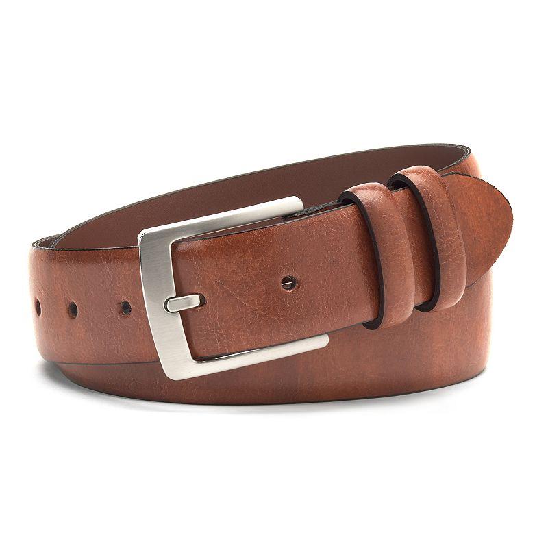 Men's IZOD Feather-Edge Leather Belt
