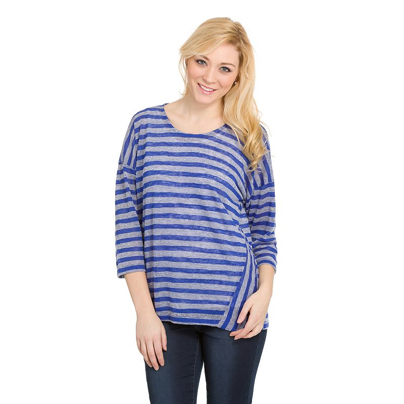 Women's Haggar® Slubbed Striped Scoopneck Top
