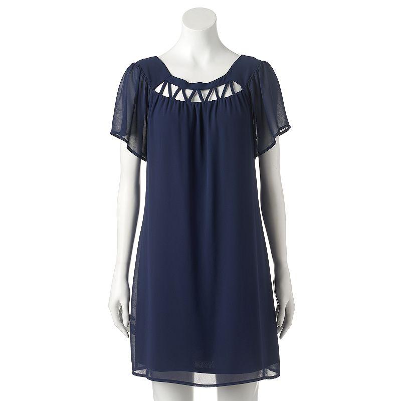 Women's Halo Flutter Shift Dress