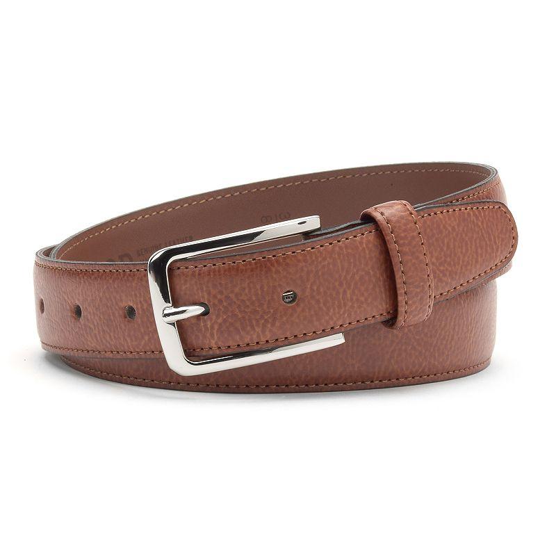 Men's IZOD Pebble Grain Leather Belt