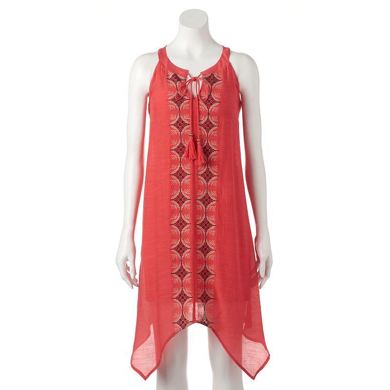 Women's Luxology Embroidered Gauze Handkerchief Dress