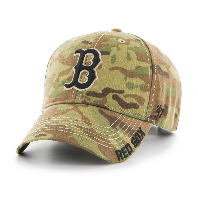 Adult '47 Brand Boston Red Sox Camouflage MVP Adjustable Cap