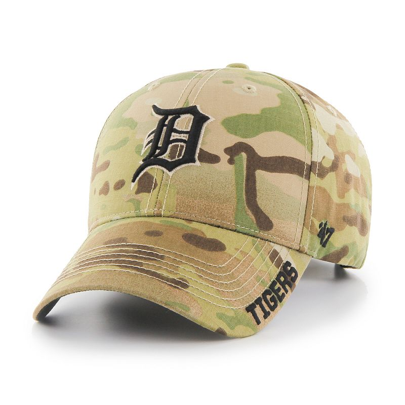 Adult '47 Brand Detroit Tigers Camouflage MVP Adjustable Cap