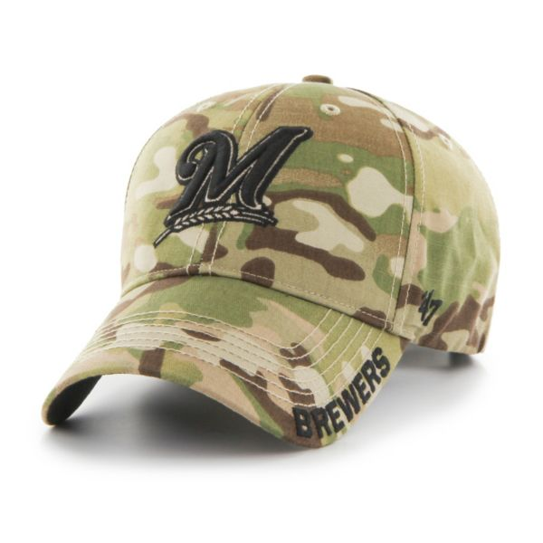 Adult '47 Brand Milwaukee Brewers Camouflage MVP Adjustable Cap