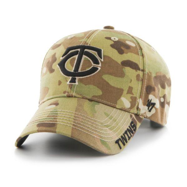 Adult '47 Brand Minnesota Twins Camouflage MVP Adjustable Cap