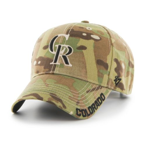 Adult '47 Brand Colorado Rockies Camouflage MVP Adjustable Cap