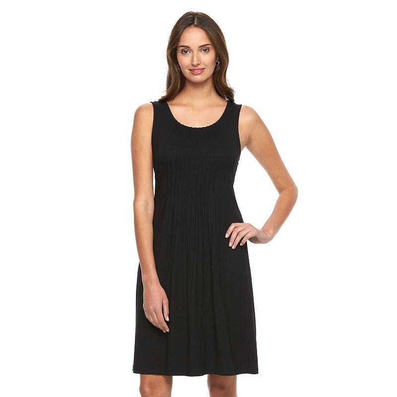 Women's Croft & Barrow® Pintuck A-Line Tank Dress