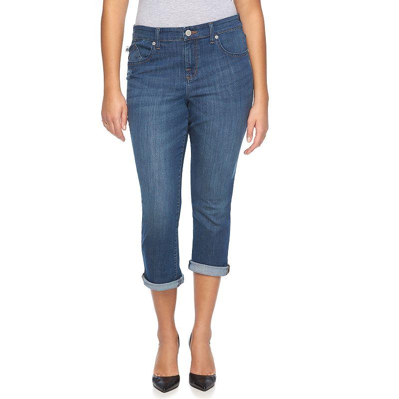 Plus Size Rock & Republic® Kendall Cuffed Capri Jeans