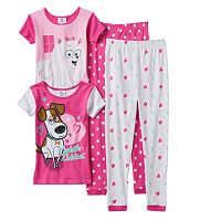 Girls 4-10 The Secret Life of Pets Max & Gidget Pajama Set