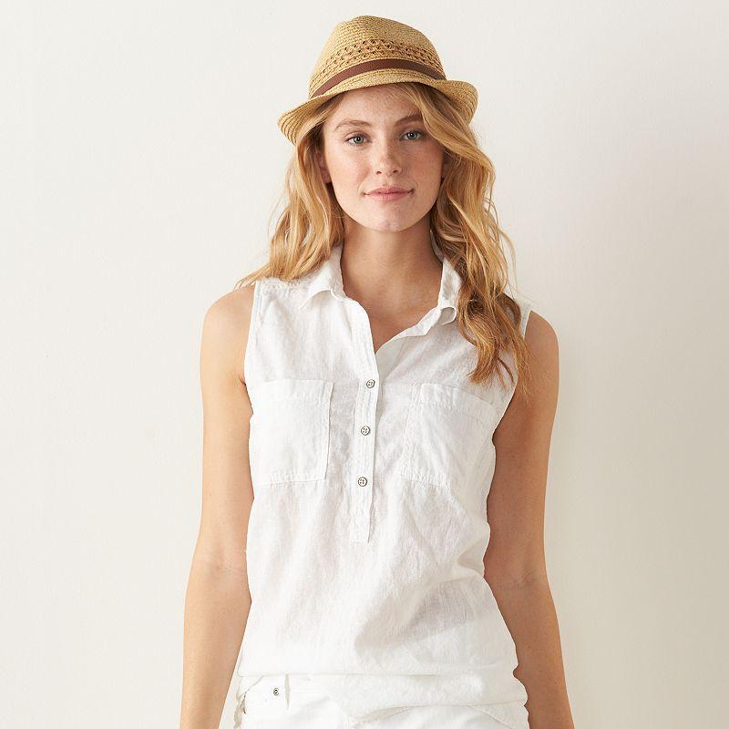 Women's SONOMA Goods for Life™ Linen Blend Shirt