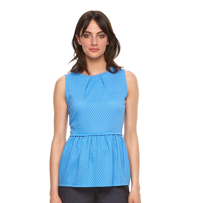 Women's ELLE™ Eyelet Peplum Top