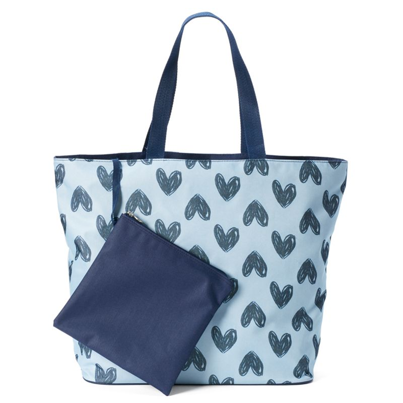 Tri-Coastal Design Scribble Hearts Beach Tote