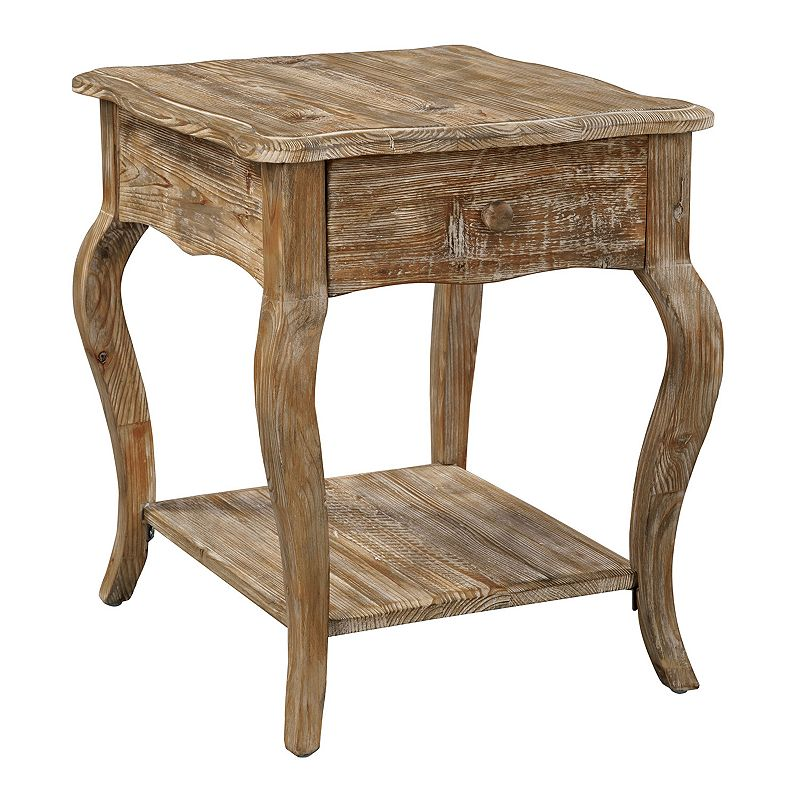 Alaterre Rustic Reclaimed Wood End Table