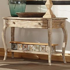 Alaterre Rustic Reclaimed Wood Console Table by