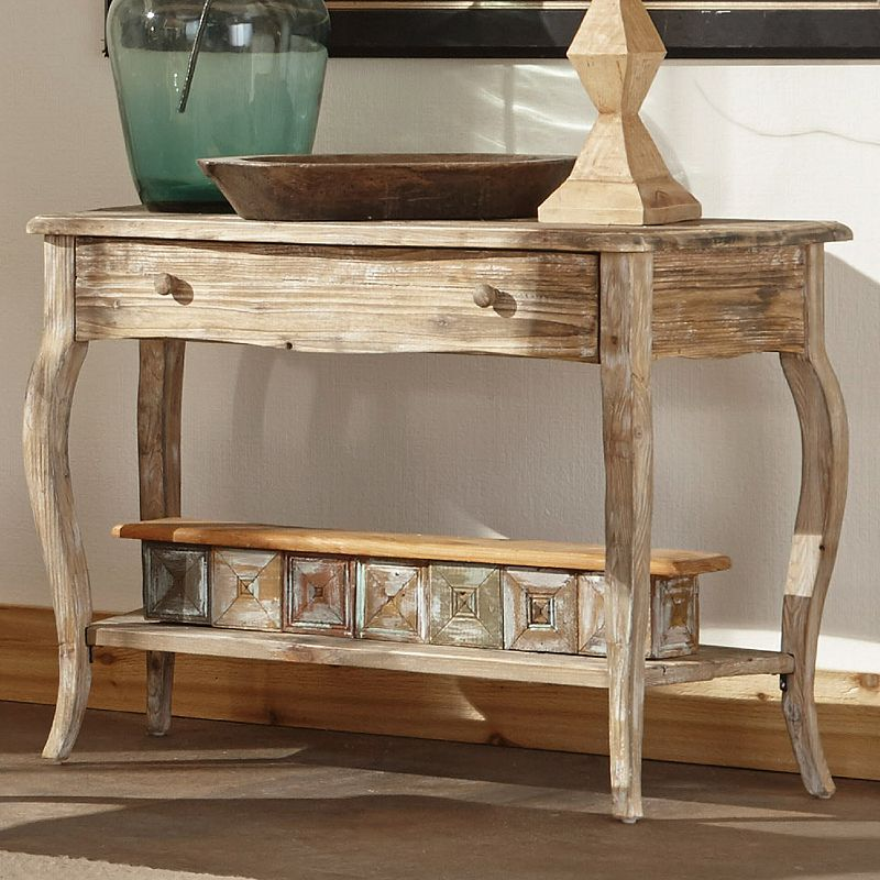 Alaterre Rustic Reclaimed Wood Console Table