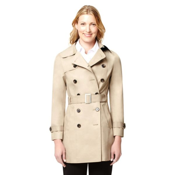 Women's Harve Benard Double-Breasted Trench Coat