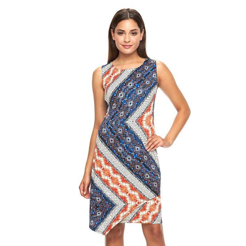 Women's AB Studio Zigzag Popover Shift Dress