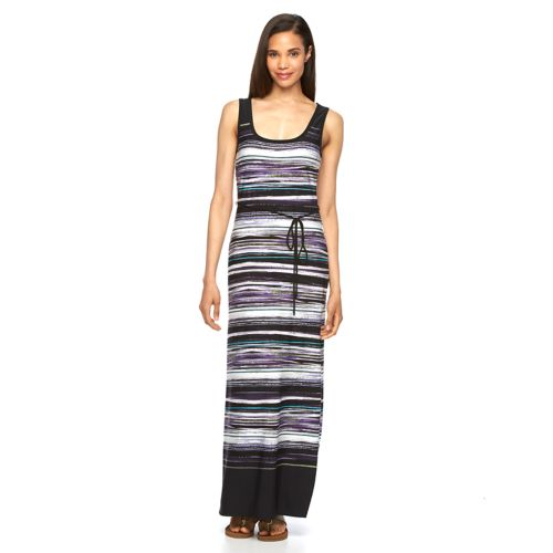 Women's Connected Apparel Striped Maxi Dress