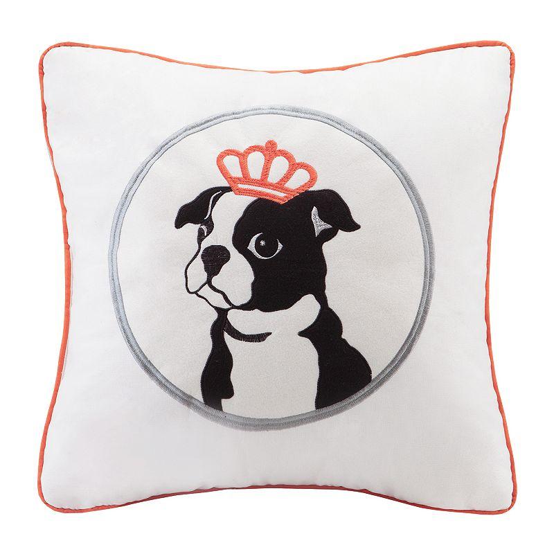 HipStyle Braxton Dog Square Throw Pillow