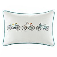 HipStyle Cruz Bicycle Oblong Throw Pillow