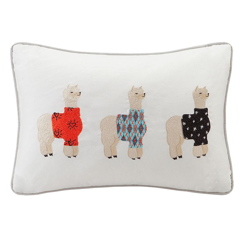 HipStyle Sweater Weather Alpaca Oblong Throw Pillow