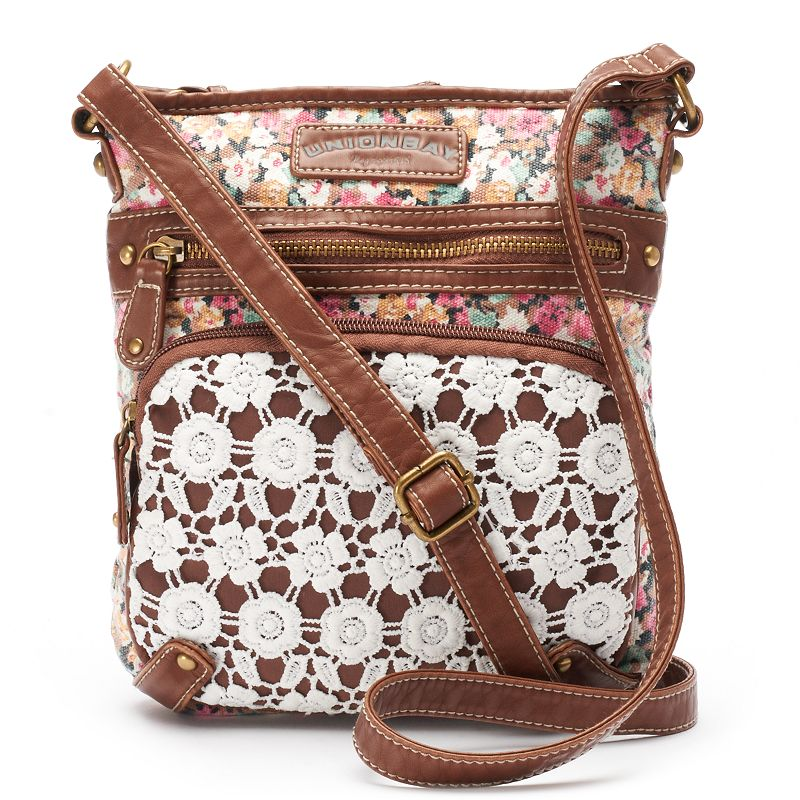 Unionbay Lace Floral Crossbody Bag