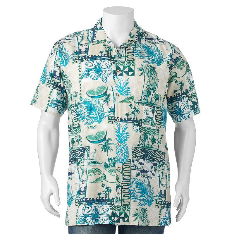 Big & Tall Newport Blue Corona Extra Casual Button-Down Shirt