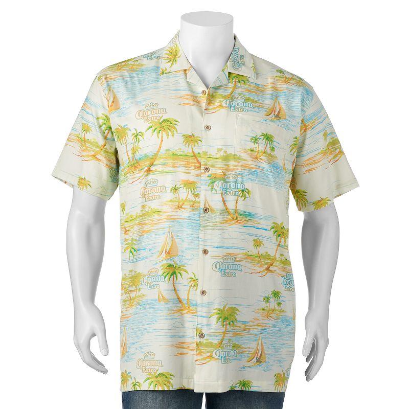 Big & Tall Newport Blue Sail Corona Button-Down Shirt