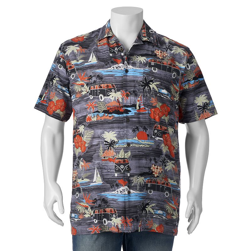 Big & Tall Newport Blue V-Dub Land Casual Button-Down Shirt