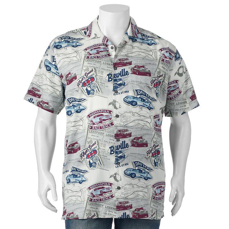 Big & Tall Newport Blue High-Speed Racing Button-Down Shirt