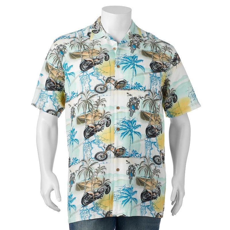 Big & Tall Newport Blue Day Rider Button-Down Shirt