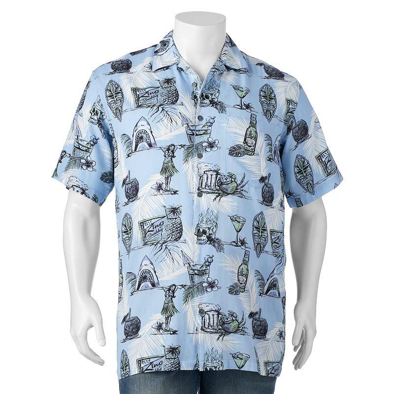 Big & Tall Newport Blue On The Rocks Button-Down Shirt