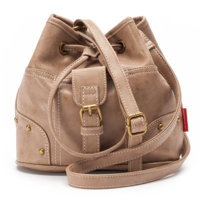 Unionbay Drawstring Bucket Bag, Women's, Dark Beige