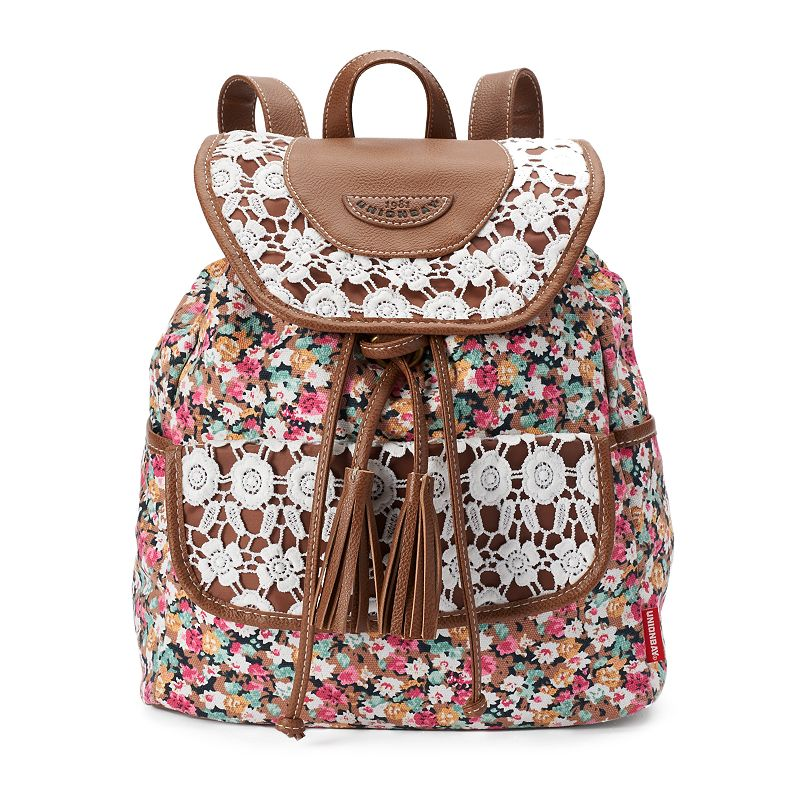 Unionbay Floral Lace Mini Backpack