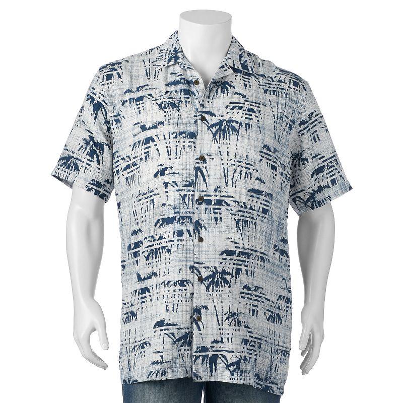 Big & Tall Newport Blue Tropical Button-Down Shirt