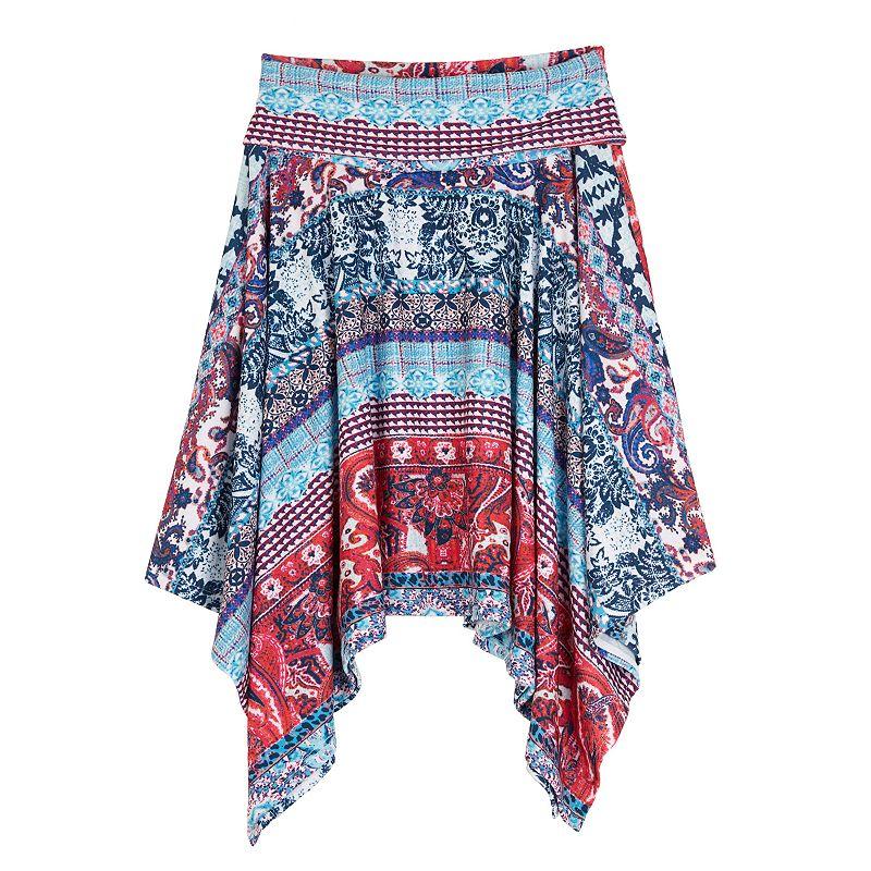 Girls 7-16 IZ Amy Byer Fold-Over Geometric Skirt