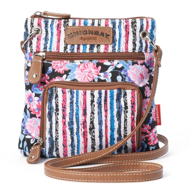 Unionbay Floral Striped Crossbody Bag