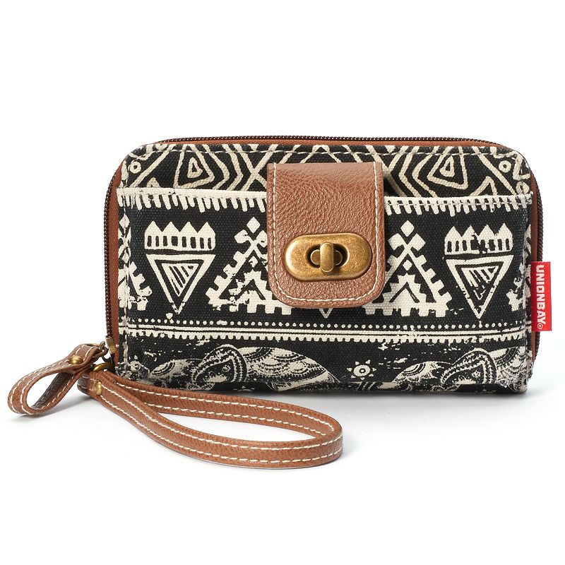 Unionbay Tribal Graphic Wristlet