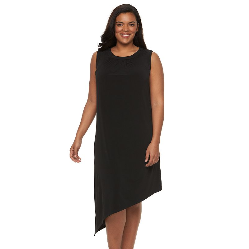 Plus Size Suite 7 Asymmetrical-Hem Dress