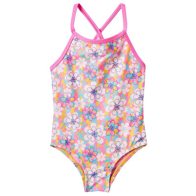 Girls 4-12 TYR Racerback Poppy Flower One-Piece Swimsuit