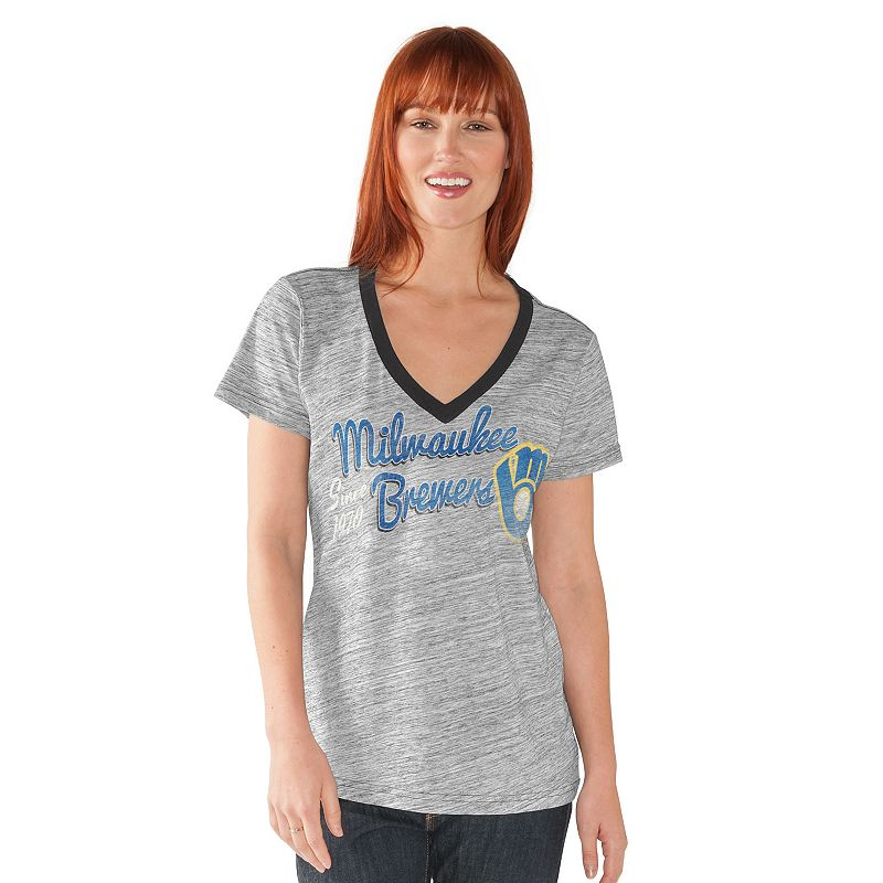 Women's Milwaukee Brewers Ace V-Neck Tee